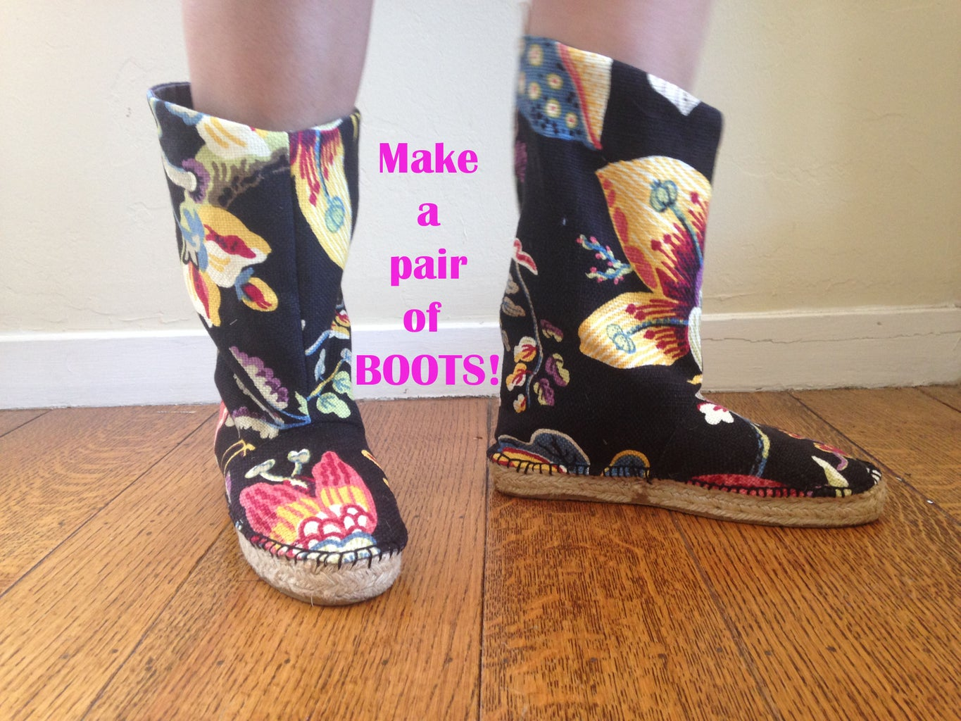 The Espadrille Re-Boot! Make a Pair of Custom Boots