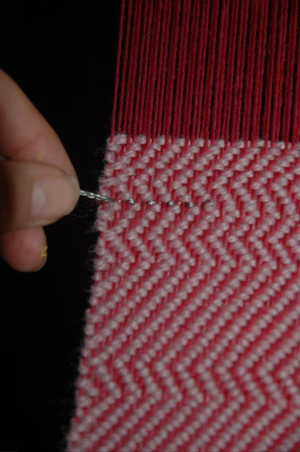 Weaving With Conductive Thread: Clasped Weft