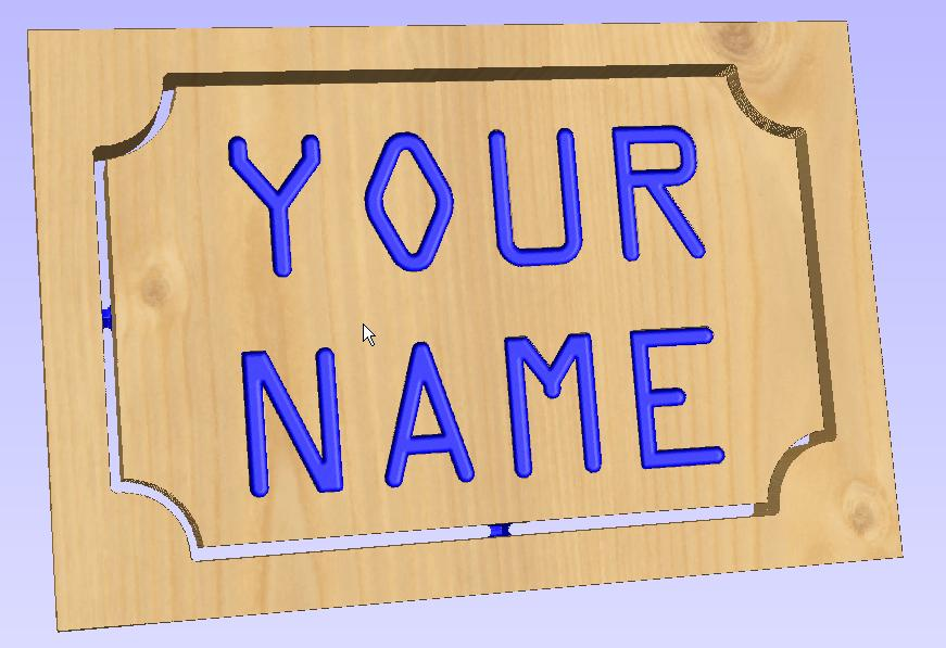 Create Nameplates with VCarve PRO