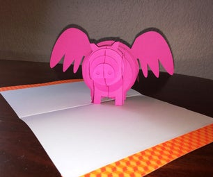 When Pigs Have Wings Pop Up Card