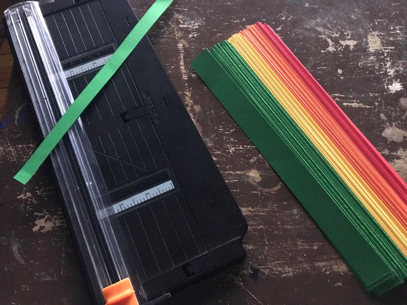 Cutting the Paper for the Rainbow