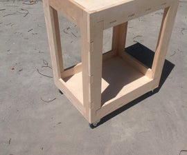 Plywood Shop Cart Made With CNC Router