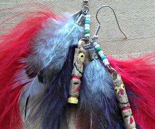 Carved Totem Earrings