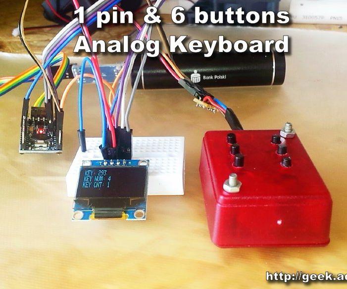 1 Pin & 6 Buttons - Analog Keyboard