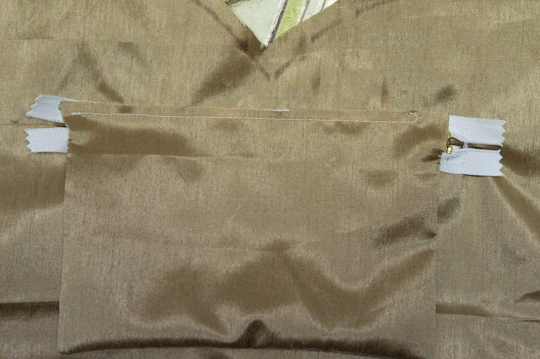 Sew Long Side to Zipper
