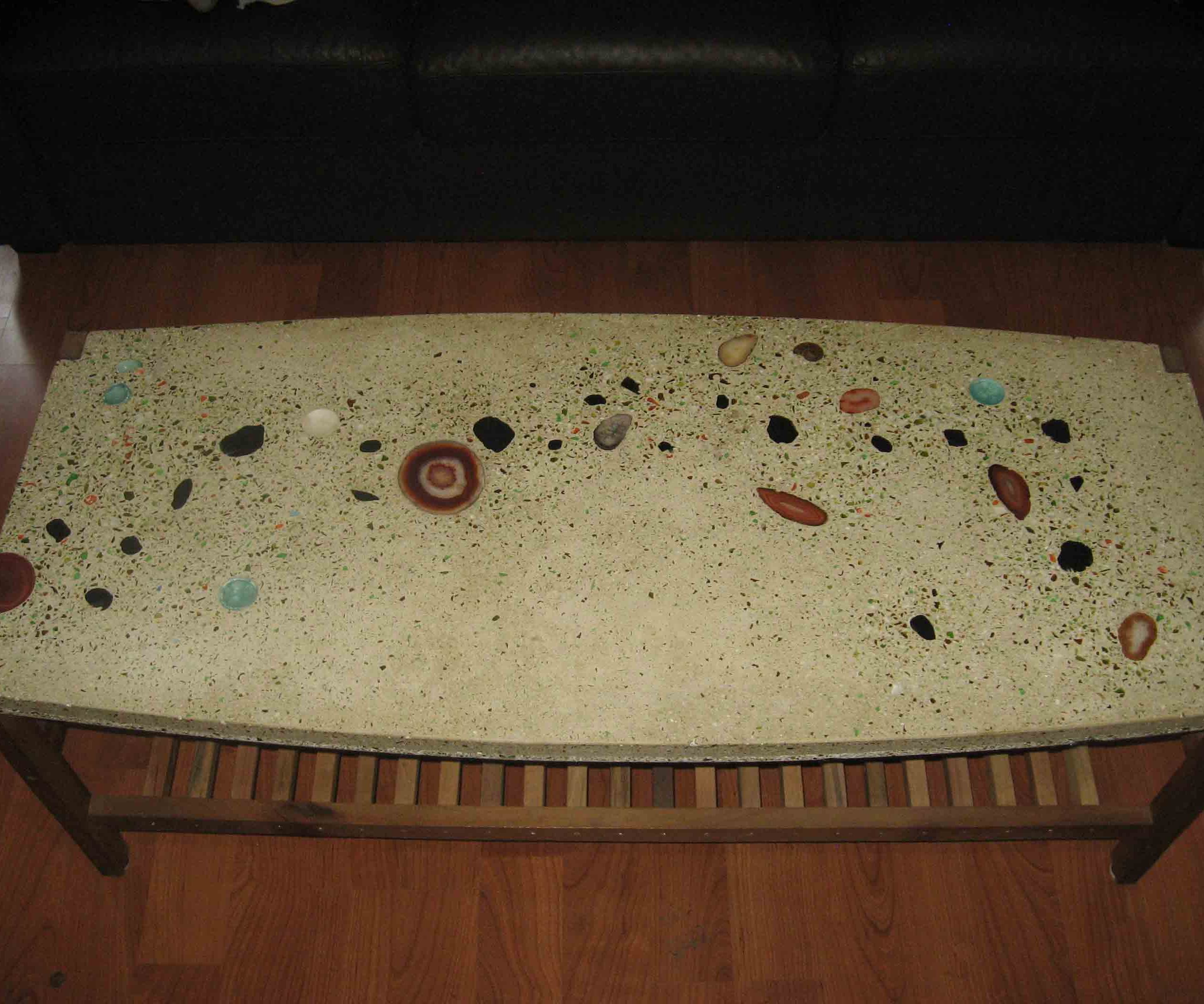 Concrete Coffee Table from Recycled Materials