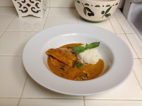 Thai Salmon Chu Chee - by Mimi