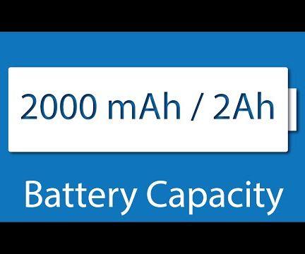 Battery Capacity (mAh) and Usage