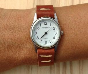 轻松皮革手表带