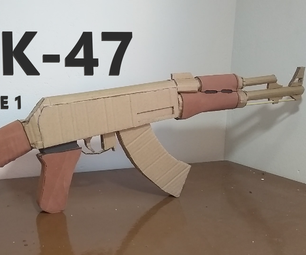 AK 47 of Cardboard