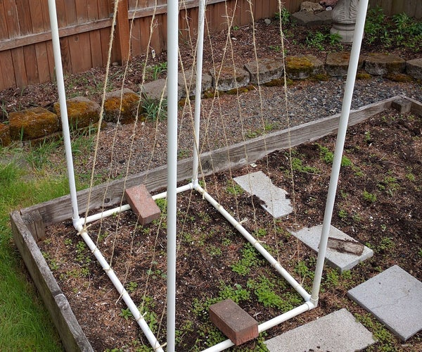 PVC Garden Trellis