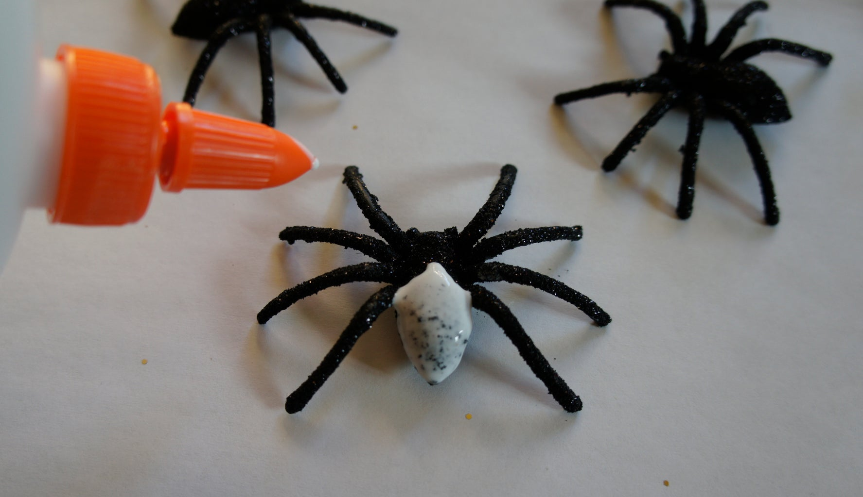 Glitter Spiders