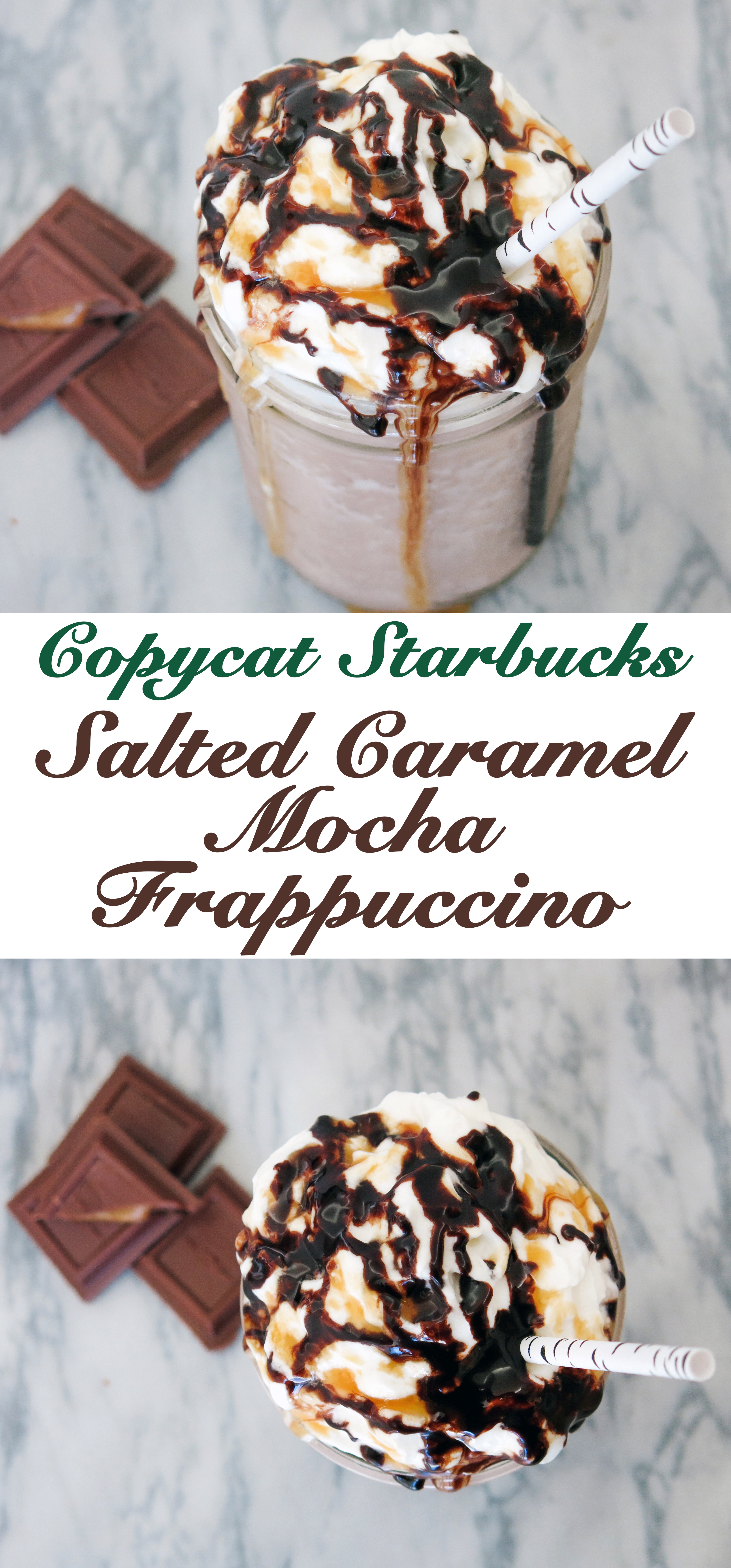 Salted Caramel Mocha Frappuccino Recipe 3 Steps With Pictures