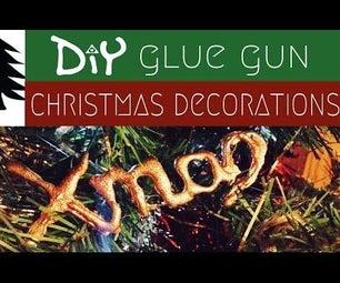 DIY Glue Gun Christmas Decorations