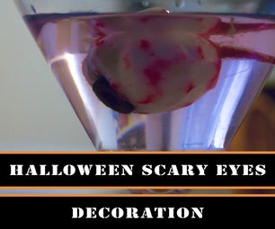 Halloween - How to Make Scary Eye As a Room Decor