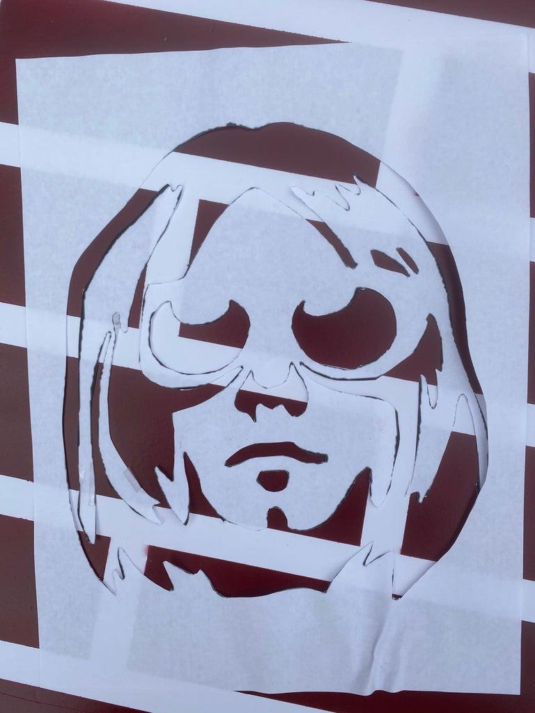 Kurt Cobain Spray Paint Memorial Art