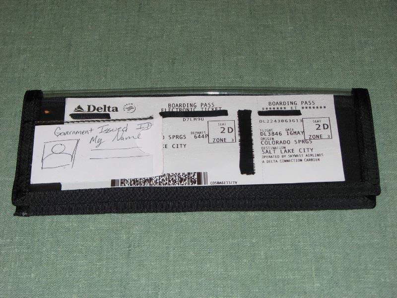 Airline Ticket Jacket (SewUseful)
