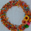 full of colours wreath