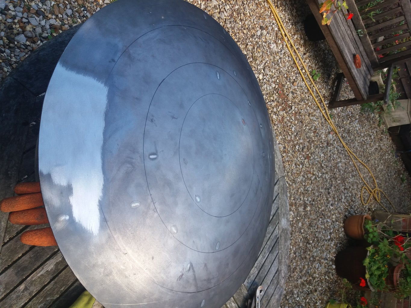 Cutting and Preparing the Metal Dome