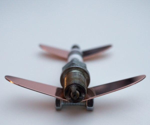 No-Weld Spark Plug Aeroplane