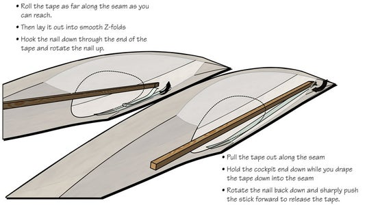 Taping the Inside Seam