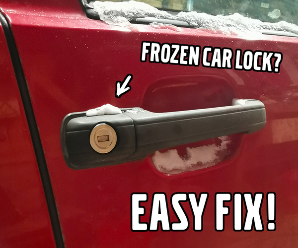 Easy Fix for a Frozen Car Lock