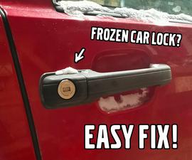容易修复冻结车锁