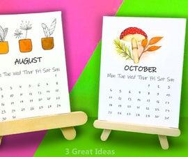 Diy Desk Calendar and Calendar Stand Making