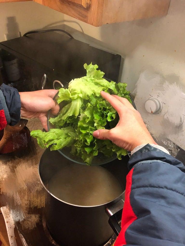 Cooking Procedure - Drop Lettuce