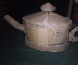 MAKING a CARDBOARD ALADDIN SMOKED LAMP