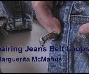 Mending Jeans Belt Loop