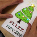 Holiday Cards with Chibitronics - Blinking LED Circuit Stickers