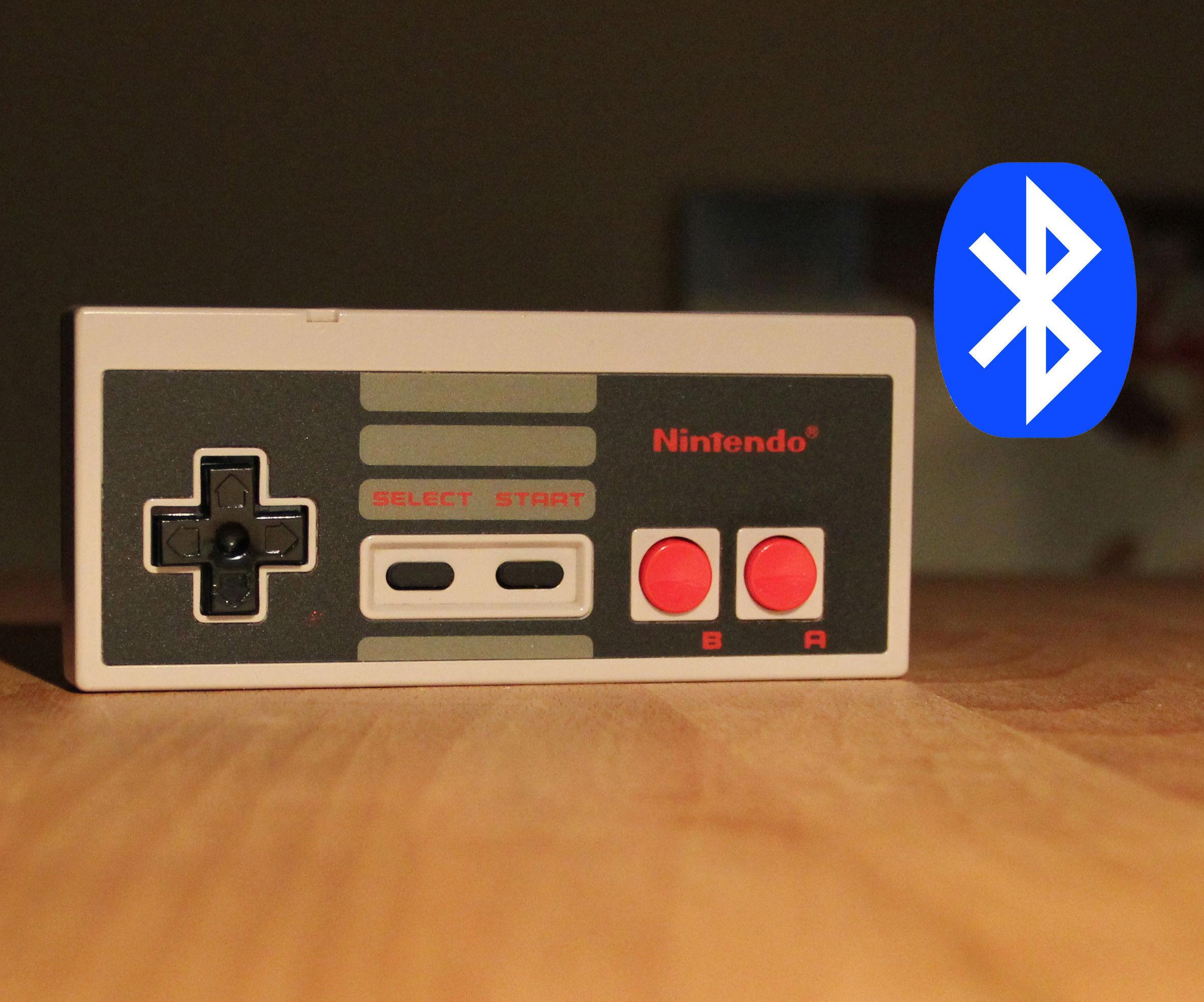 Bluetooth Nintendo NES controller using Wiimote!