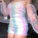 Whimsical Rainbow Fashion Playsuit