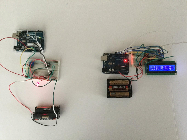 Arduino: DS18B20 Temperature Sensor Data Over Wireless