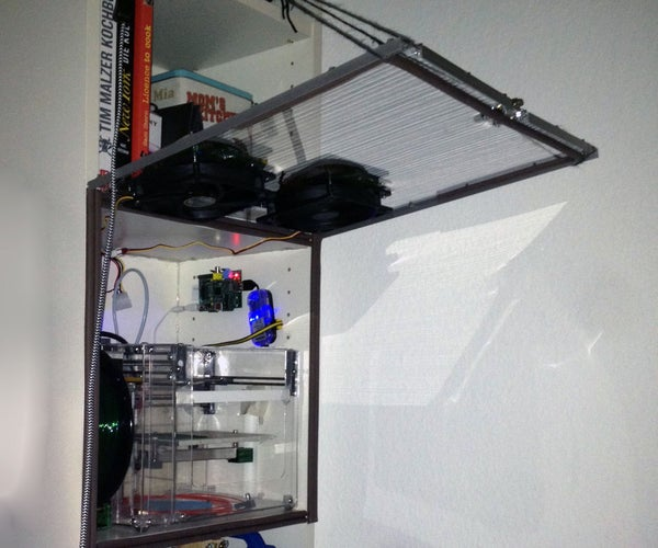 How to Make 3D Printing in Homes and Offices Safer, by Building an Enclosure That Filters Gases and Particulate Matter