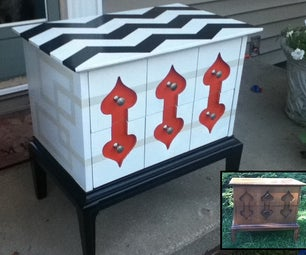 Trash to Treasure, Using Spraypaint to Refinish Curb-find Furniture