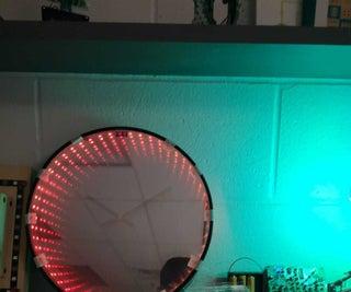 Infinity Mirror Clock With Potentiometers