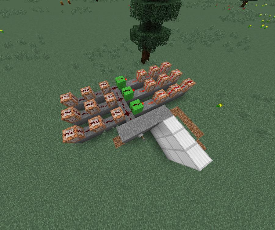 Minecraft 3x3 Door - NO PISTONS!!!!!