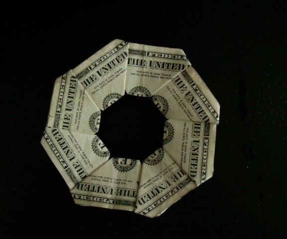 $8 Flying Disc (dollar Bill Origami)