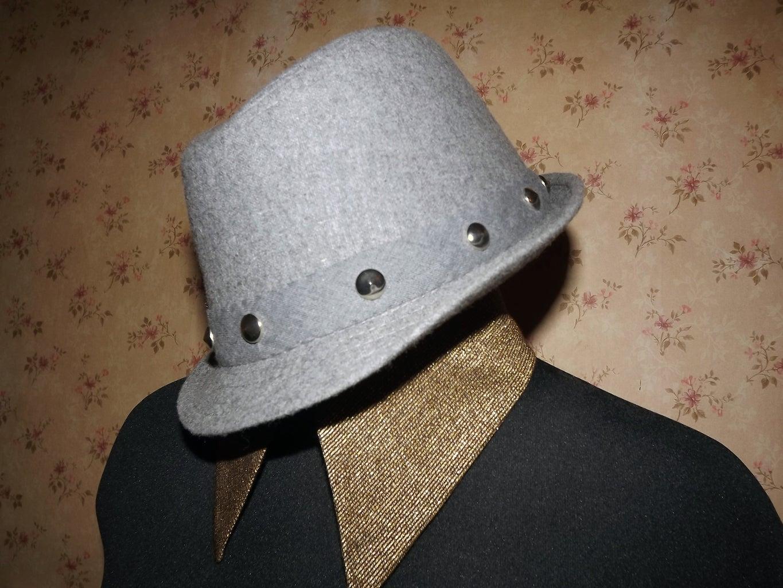 Thrift Store Fedora to a Wonderfully Studded Fedora Hat