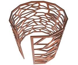 Voronoi Cuff in Tinkercad