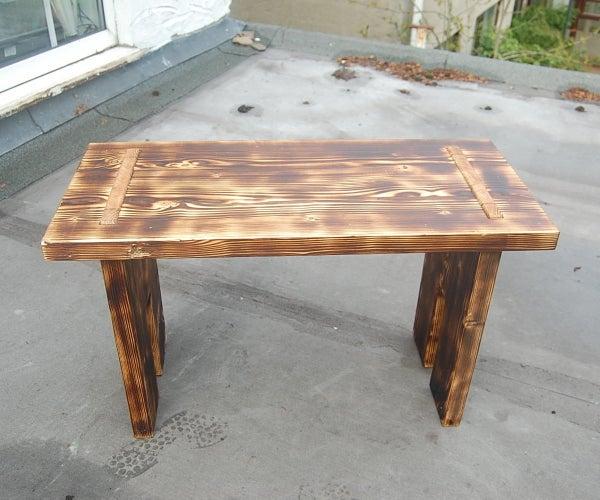 Charred Scaffold Board Table