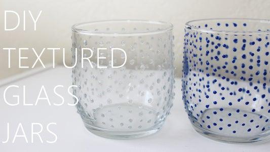 DIY TEXTURED GLASS JARS