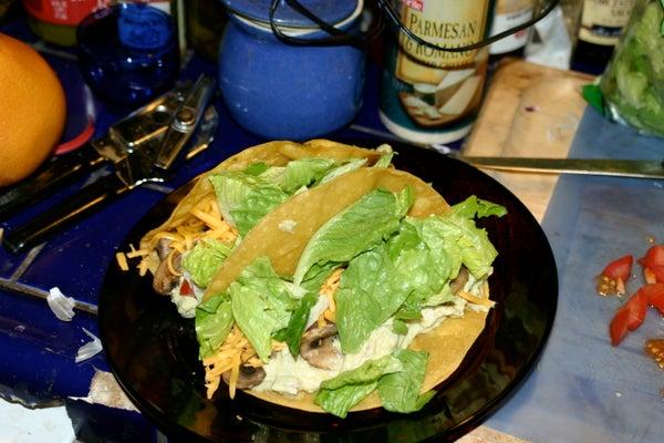 Orgasmic Veggie Tacos / Sort Of!