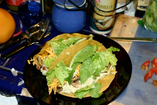 Orgasmic Veggie Tacos / Sort Of!