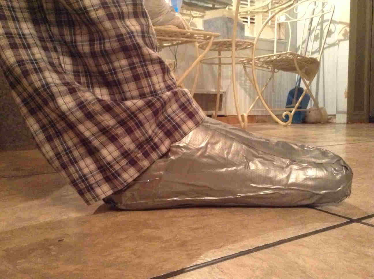 How to make duct tape loafers!