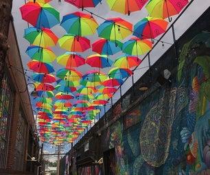 彩虹巷:DIY伞冠层
