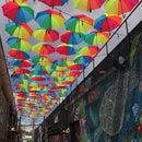 Rainbow Alley : DIY Umbrella Canopy