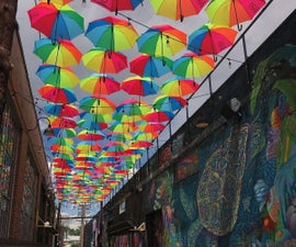 Rainbow Alley : DIY Umbrella Canopy